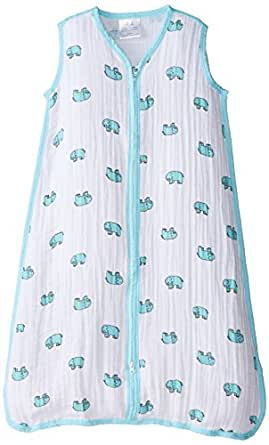 aden + anais Unisex Baby Jungle Jam Muslin Sleeping Bag Elephant Small
