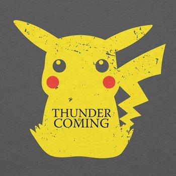 Planet Nerd - Thunder is coming - Herren T-Shirt Grau