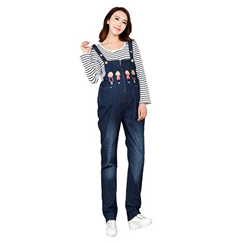 Zhuhaixmy Dungarees Overall für Schwangere, Umstandshose Prop Belly Hosenträger Brace Overalls Latzhose Strampler Verstellbarer Mutterschaft Jeans