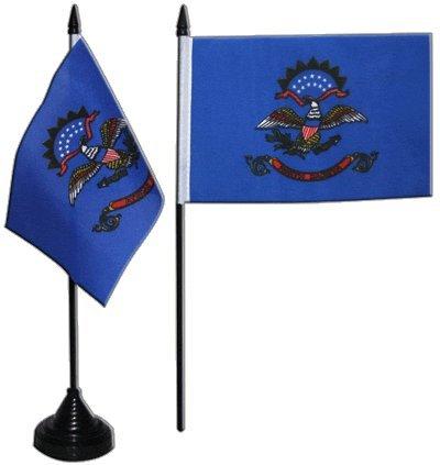 Flaggenfritze® Tischflagge USA North Dakota 10x15 cm