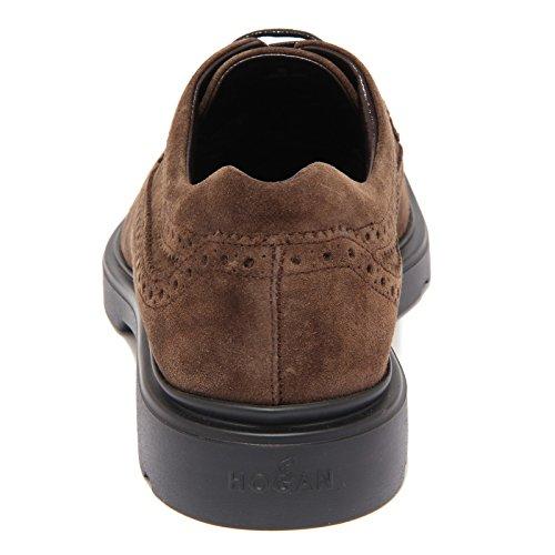 9640R scarpa uomo HOGAN NEW ROUTE BUCATURE marrone suede brown shoe men Marrone