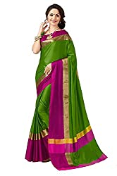 Sarees (BuyOnn Women's Clothing Saree Today best offers buy online in Low Price Sale Designer Multi Color Cotton Silk Fabric Free Size Ladies/ Women Saree With Blouse Piece)