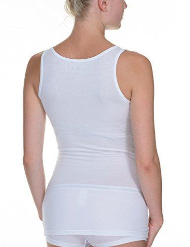 bruno banani Damen Top Smoothly Cotton Sportshirt Weiß (Weiß 1)