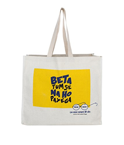 The Blue Pink Canvas Grocery handbag (VEG-09M)  available at amazon for Rs.149