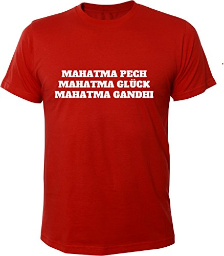 Mister Merchandise Cooles Herren T-Shirt Mahatma Pech Glück Gandhi mal hat man Rot