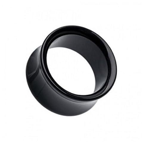 Classic Tunnel - Schwarz 12 mm (12 Stück Schwarze Acryl)