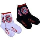 Juego de 2niños calcetines deportivos de FC Bayern Múnich Munich Calcetines/Socks/chaussettes/Calcetines FCB Talla:23-26