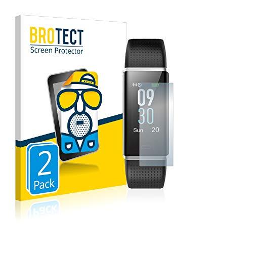BROTECT 2X Entspiegelungs-Schutzfolie kompatibel mit Yamay Fitness Tracker SW352 Displayschutz-Folie Matt, Anti-Reflex, Anti-Fingerprint