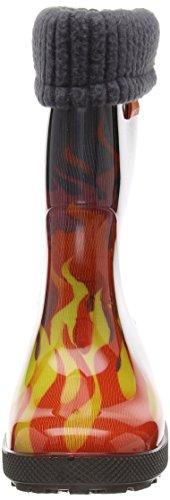 DEMAR bottes en caoutchouc rembourré hAWAI lUX eXCLUSIVE Rouge - Flammen