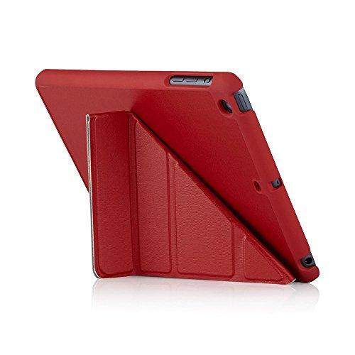 Preisvergleich Produktbild Pipetto Luxe Origami Faltbare Lammfell-Hülle mit Stand für Apple iPad Mini 2 / 3 rot