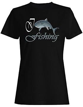 Amo pescar nuevos pescados divertidos camiseta de las mujeres g750f
