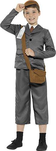 010l 2. Weltkrieg Evacuee Boy Kostüm mit Jacke, Hose/(groß) (Evacuee Boy Fancy Dress Kostüm)