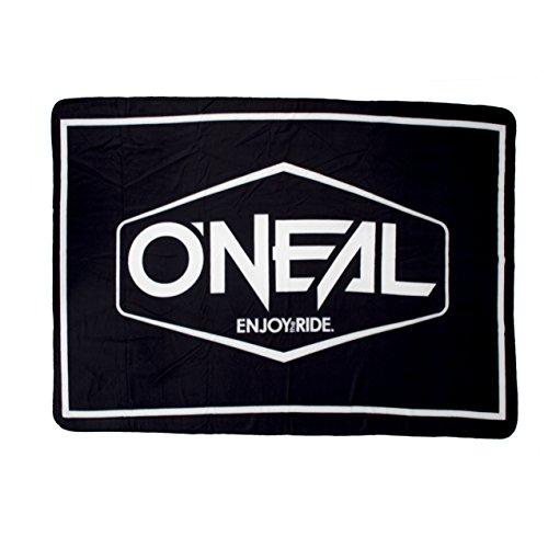 O'Neal ONL Rider Stadium Fleece Decke 200 x 138 cm Schwarz Weiß MX MTB Quad Moto Cross Enduro Blanket, 1115-004 -