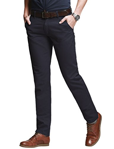 match-mens-slim-tapered-stretchy-chino-trousers-8050army-gray830w-x-31l