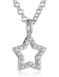 Esprit Kinder und Jugendliche Halskette 925 Sterling Silber rhodiniert Zirkonia ESNL92733A340