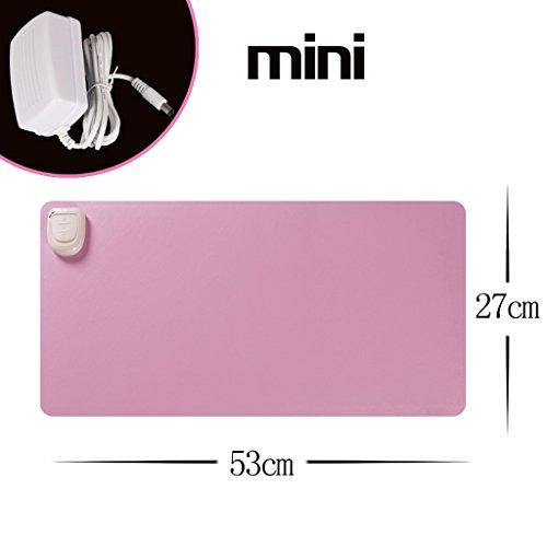 Mini 27 * 53cm Due Passi Regolare 20s Velocità di calore 24V per la sicurezza Tensione Cortex impermeabile imitazione di dispersione anti-skid Warm Tabella Mat elettrico del rilievo di riscaldamento ( colore : Rosa )