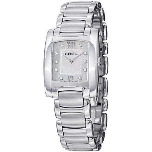 Ebel Brasilia 9256M32-98500 27x27mm Silver Steel Bracelet & Case Synthetic Sapphire Women's Watch