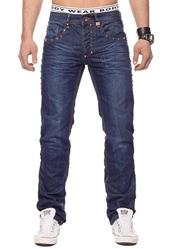 Hommes Jeans rivets Baltimore ID1330 bleu foncé Dunkelblau