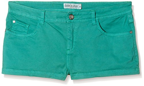Stitch & Soul Stitch & Soul Damen Hose, Hotpant, 5-pocket - Short - Femme Vert - Grün (12300-middle green 12300)