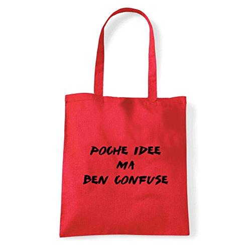 Art T-shirt, Borsa Shoulder Idee Confuse, Shopper, Mare Rosso