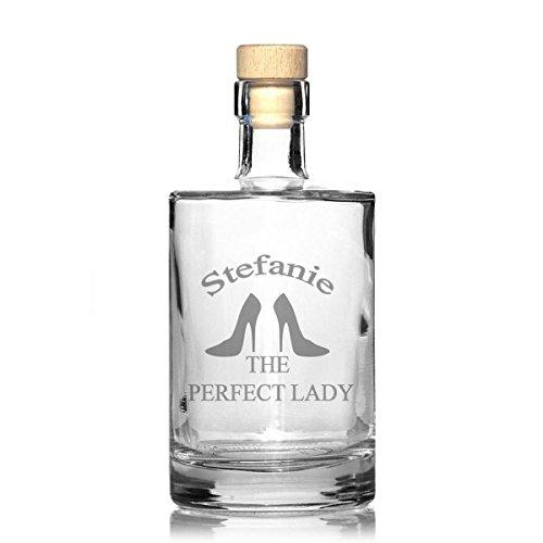 FORYOU24 Edle Whiskeykaraffe mit Gravur Lady Whisky-Flasche graviert Lady-flasche