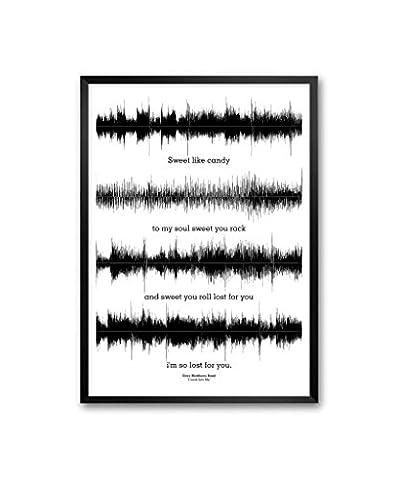 Dave Mathews Band Crash into me Songs Waveform Lyrics Framed Poster In A3 (16.5