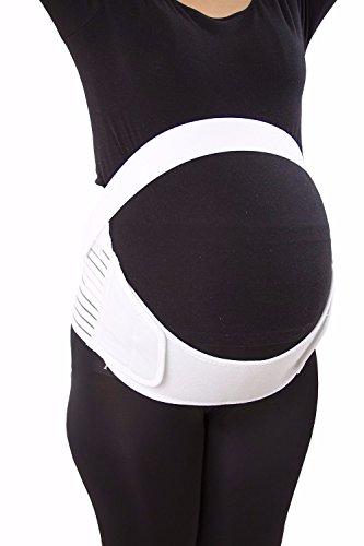 Fitdoo Ceinture de grossesse Le support de l'estomac Support de sangle ventre 2 Couleur blanc