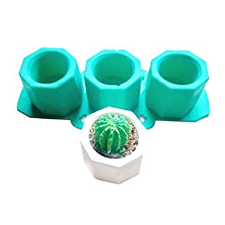 lzndeal Silicone Cactus Flower Pot Mold Ceramic Clay Craft Casting Concrete Cup Mould Supplies