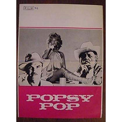 Dossier de presse de Popsy Pop (1971) – 31x92cm - Film de Jean Herman avec C Cardinale, H Charrière – Photos N&B – résumé scénario – Bon état.
