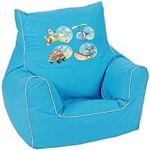 Knorr-baby 450185 - Sillón blando infantil con diseño de vehículos, color azul