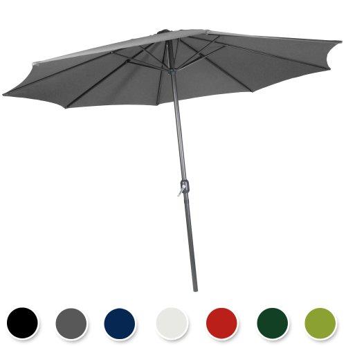 Galleria fotografica Miadomodo Ombrellone da giardino ombrellone parasole Ø 3 metri colore a scelta (Coal (grigio))