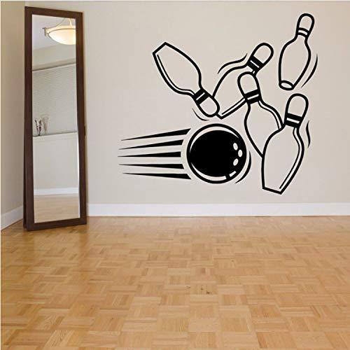Bowling Pin Ball Alley Wandaufkleber Für Sport Wohnzimmer Tapete Kunst Dekor Vinyl Wandtattoos Hintergrund Bowling-art-deco