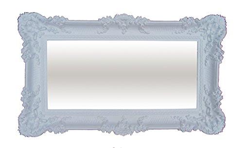 Lnxp XXL WANDSPIEGEL BAROCKSPIEGEL Weiß 96x57 Antik Barock REPRO Shabby Chic FLURSPIEGEL...