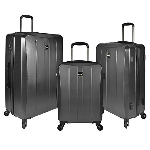 U.S. Traveler Highrock 3-piece Hardside Spinner Set, Unisex-Erwachsene Gepäck-Set, Highrock 3-piece Hardside Spinner Set, US09048G (Gepäck-set Hardside)