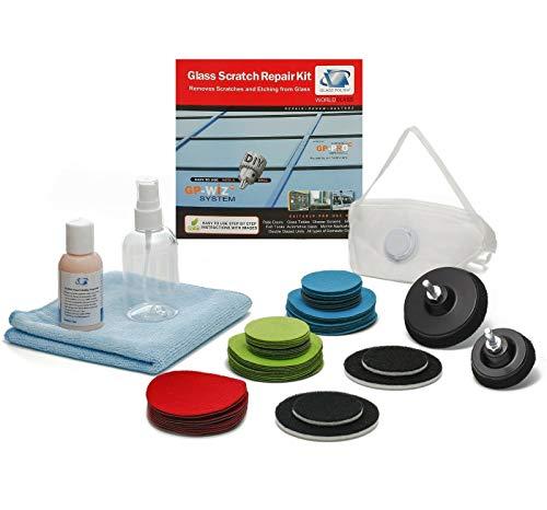 Glas Reparatur DIY Kit, Kratzer gp-wiz System-entfernt Kratzer, Mineraldepot, Wasser Schäden, Abnutzung und säureätzung-Deluxe