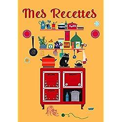Mes recettes: Carnet de recette à remplir, Cahier de cuisine à remplir, grand format A4, pour écrire mes délicieuses recettes. Couleur Jaune