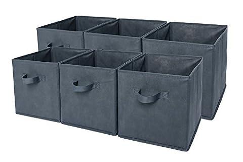 Sodynee Foldable Cloth Storage Cube Basket Bins Organizer Containers Drawers,