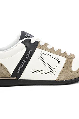 Versace Jeans Sneakers Fini Cuir Tendance Yrbsb7 les BLANCS