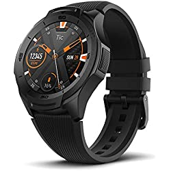 Ticwatch Sistema operativo S2 Black Wear de Google Classic Fitness Smartwatch, 5 ATM Waterproof, Google Pay, Compatible con iPhone y Android