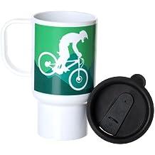 Polímero taza de viaje con tapa Downhill diseño