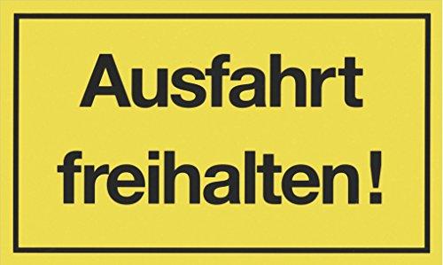 """Metafranc Hinweisschild \""""Ausfahrt freihalten!\"""" - 250 x 150 mm / Beschilderung / Infoschild / Verbotsschild / Halteverbot / Parkverbot / Grundstückskennzeichnung / Gewerbekennzeichnung / 500030"""