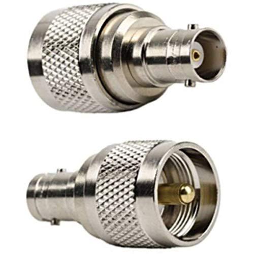 Bobury 1/2/4/6 Pcs RF Koaxial Koax Adapter UHF-Stecker auf BNC-Buchse PL259 PL259 Stecker-Adapter Bnc-koax Adapter