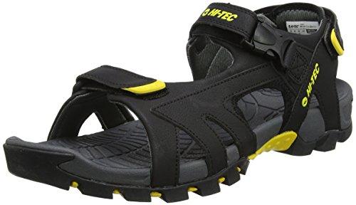 Hi-tec zamoro ultra, sandali da arrampicata uomo, nero (black/yellow), 46 eu