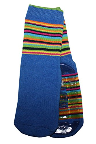 Weri Spezials Unisexe Bebes Voll-ABS-Turtle Chaussettes Colorful mondiale! Bleu 12-24 Mois (19-22)