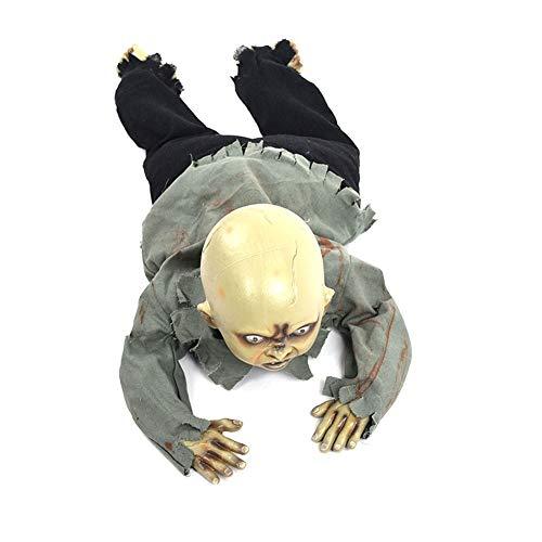 Ouken Halloween-Geist-Verzierung Creepy Schätzchenkriechen Geist-Halloween-LED Animated kriechendes