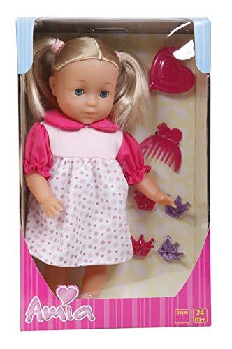 Amia Puppe mit Haar, 33cm, inklusive Zubehör (Puppe Mit Haar)