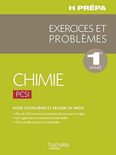 Chimie PCSI - 1ère année - Exercices e...