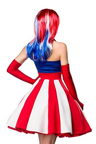 Sexy Miss America Kostümset Kostüm Superheld Held Heldin Blau Rot Weiß; Größe: M - 3