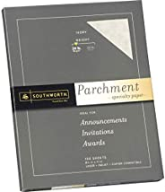 Southworth Parchment Specialty Paper 24 lbs 8-1/2 x 11 - 100/Box, Ivory (P984CK)