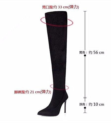 FLYRCX Stile Europeo Moda sexy bella punta tacco stivali alta partito scarpe tacco C